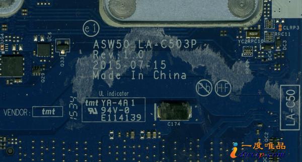 仁宝Compal LA-C503P ASW50 REV 1.0